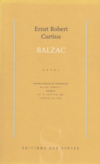 Curtius - Balzac - traduction Beretti - Editions des Syrtes